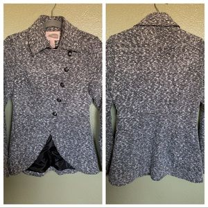 Houndstooth textured peacoat, tulip front